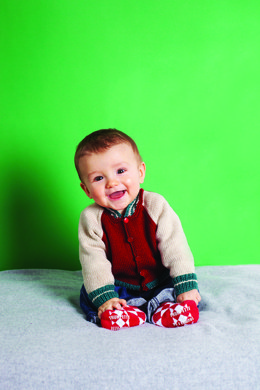 """Kids' Baseball Jacket"" - Jacket Knitting Pattern For Babies in Debbie Bliss Baby Cashmerino"