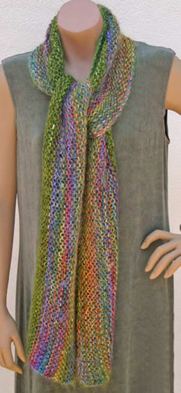 Striped Scarf (FP8) in Prism Yarns Kid Slique