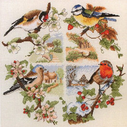 Anchor Birds and Seasons Cross Stitch Kit - 30cm x 30cm