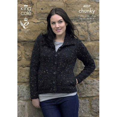 Jacket and Sweater in King Cole Chunky Tweed - 4037