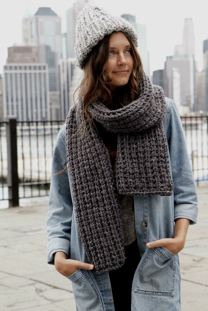 Expedition Rib Scarf Knitting pattern by Two of Wands