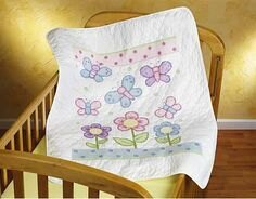 Janlynn Butterfly Quilt Cross Stitch Kit (FABRIC ONLY)