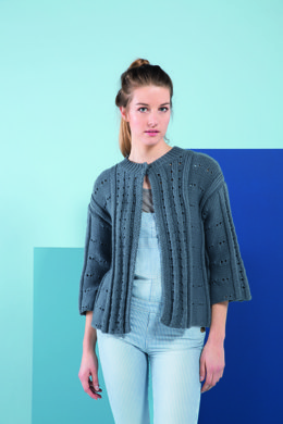 3/4 Sleeves Cardigan in Bergere de France Ideal - 72680-03 - Downloadable PDF
