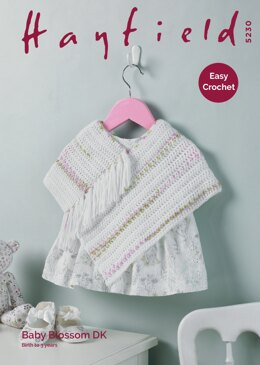 Poncho in Hayfield Baby Blossom DK - 5230 - Downloadable PDF