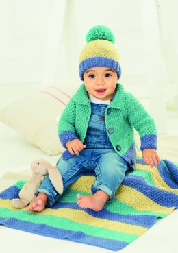 Cardigan, Hat and Blanket in Stylecraft Bambino DK - 9757 - Downloadable PDF
