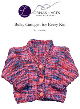 Cardigan for Every Kid in Lorna's Laces Shepherd Bulky
