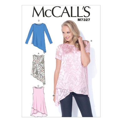 McCall's Misses' Shaped Hemline Tops M7327 - Sewing Pattern