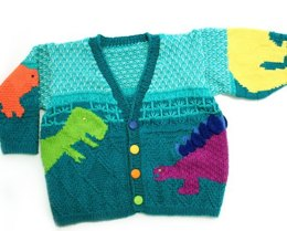 Stefan's Dinosaurs Sweater in Tahki Yarns Cotton Classic