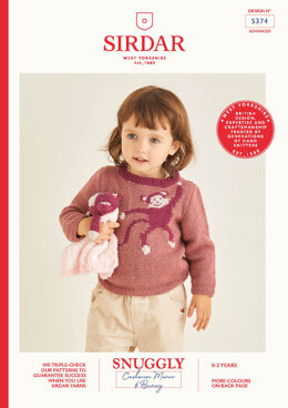 Baby's Sweater and Cuddle Blanket in Snuggly Cashmere Merino & Snuggly Bunny - 5374 - Leaflet