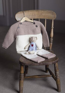 Oliver Jumper & Trousers Set in Rowan Baby Cashsoft Merino - Downloadable PDF