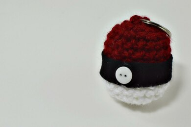 Pokeball Amigurumi Mini Keychain