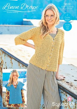 Crochet Cardigan & Sweater in Stylecraft Linen Drape - 9630 - Downloadable PDF
