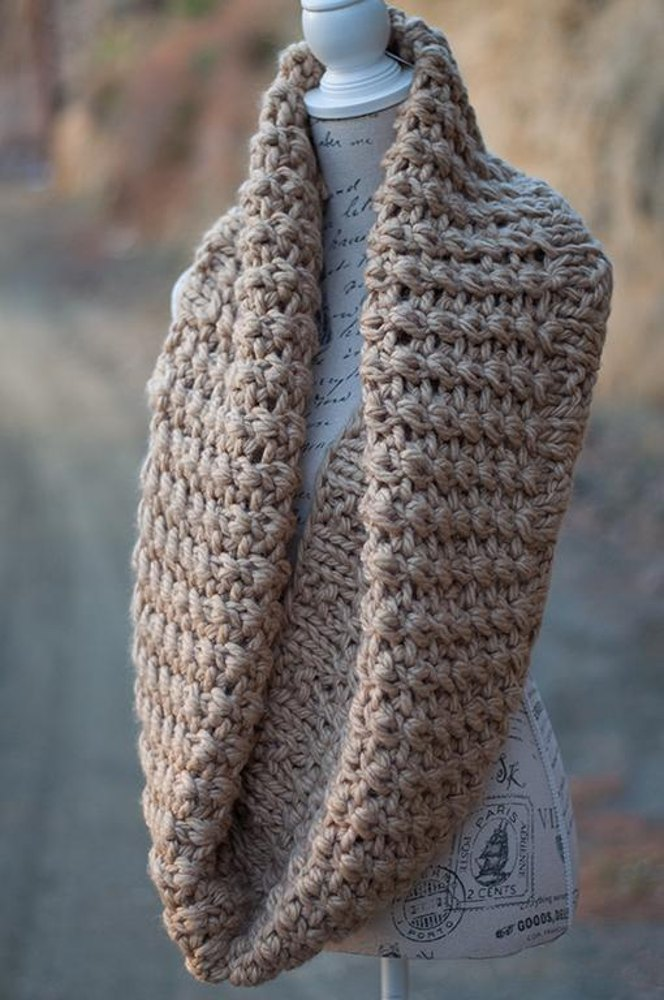 Antheia Chunky Infinity Scarf Knitting pattern by Arty Lou ...