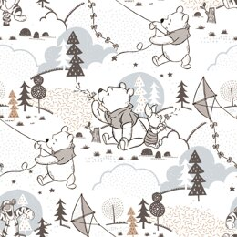 Visage Textiles Winnie The Pooh Woodland Cut to Length - Woodland White
