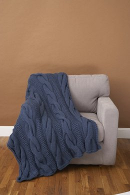 Cable Comfort Throw Lion Brand Wool-Ease Thick & Quick - 70071AD