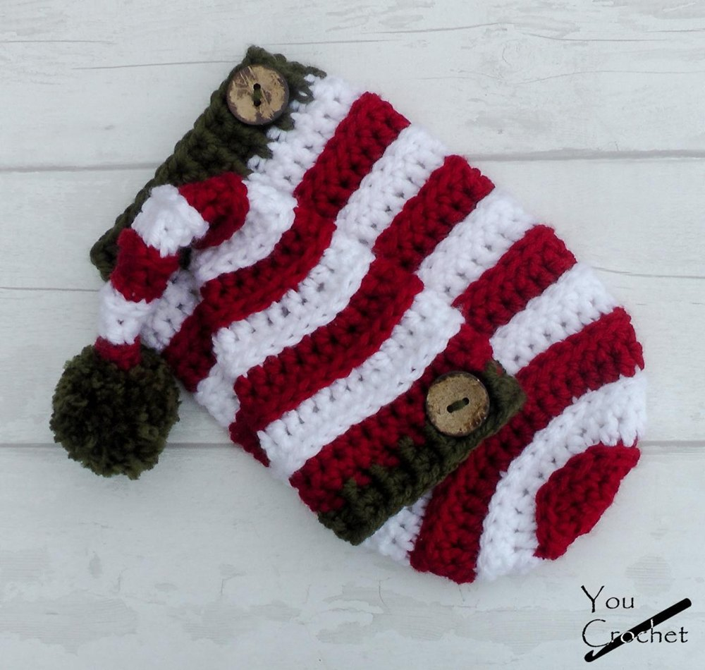 Christmas Elf Hat And Cocoon Set Crochet Pattern By You Crochet