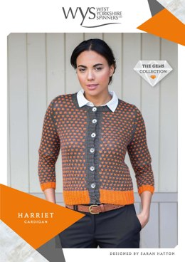 Harriet Cardigan in West Yorkshire Spinners Wensleydale Gems Hanks - WYS90996