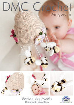 Bumble Bee Baby Mobile in DMC Petra Crochet Cotton Perle No. 3 - 14897L/2