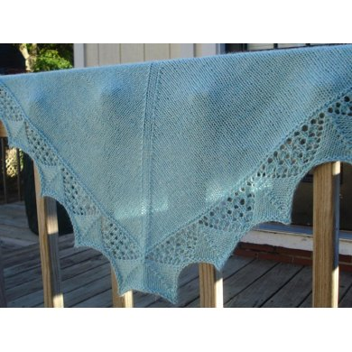 Frosted goblet shawl