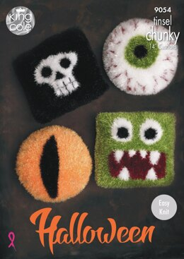 Halloween Cushions in King Cole Tinsel - 9054 - Downloadable PDF
