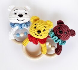 Rattle teether bear