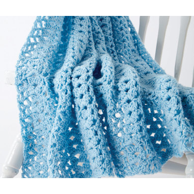 Cluster Waves Crochet Baby Blanket in Caron One Pound - Downloadable PDF