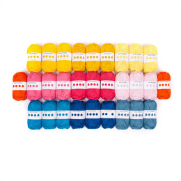 Check Me Out Bed Throw Colourful Home Collection - Paintbox Yarns Cotton Aran 29 Ball Colour Pack