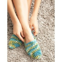 Quickie Slippers in Bernat Softee Chunky Ombres