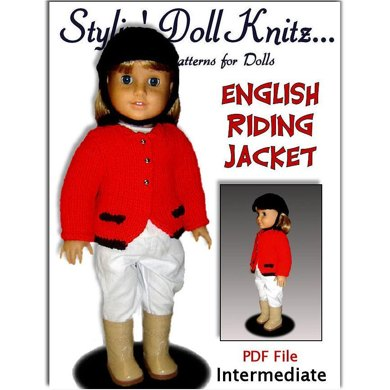 Knitting Pattern, English Riding Jacket, fits American Girl Doll and 18 in. dolls. 025