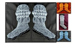 924- Aran Sock Slippers