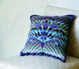 Damask Pillow in Wisdom Yarns Poems Silk - Downloadable PDF