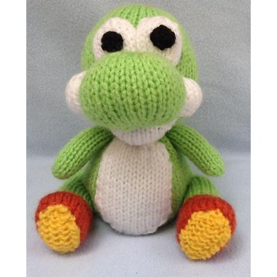 Yoshi Choc Orange Cover / Toy Knitting pattern by Andrew Lucas