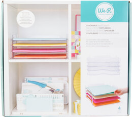 """We R Memory Keepers We R Stackable Acrylic Paper Trays (Retail Packaged) 4/Pkg - Clear 12""""X12"""""""