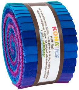 Robert Kaufman Kona Cotton Solids 2.5in Strip Roll - HR-142-24