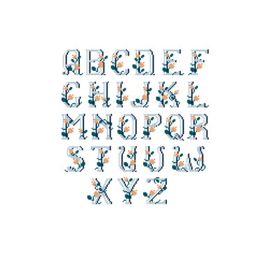 Romantic Alphabet in DMC - PAT0175 - Downloadable PDF
