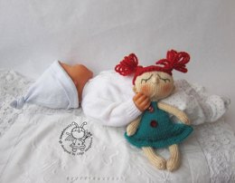 Toy for sleep. Doll for small babies