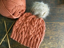 SJS Aran Cable Knit Hat