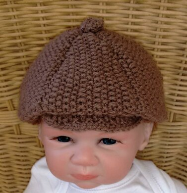 Baby Peaky Blinders Flat Cap - 4 sizes Knitting pattern by Jette Walters 3dac26e9d3b