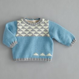 Newborn Sweater in Phildar Lambswool 51 - Downloadable PDF