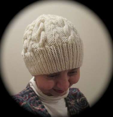 Cabled Slouch Cap