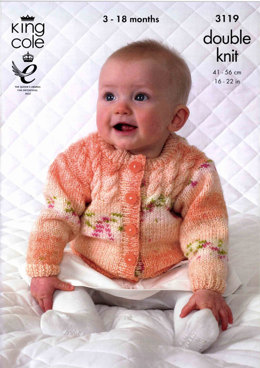 Sweater, Cardigan, Hat and Scarf in King Cole Splash DK - 3119