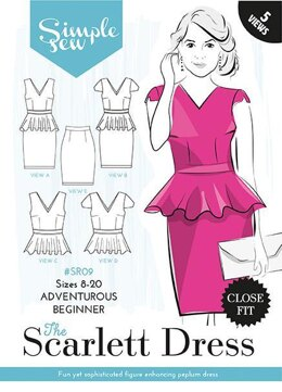 Simple Sew Patterns The Scarlett Dress SR09 - Paper Pattern, Size 8-20