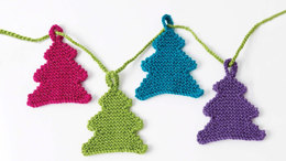 Happy Little Trees Garland in Caron Simply Soft Party - Downloadable PDF