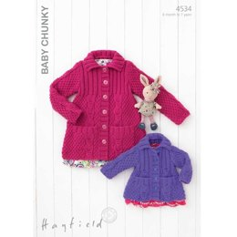 Cardigans in Hayfield Baby Chunky - 4534