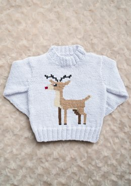 Intarsia - Red Nosed Reindeer Chart & Childrens Sweater