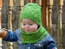 Rainforest Hat and Cowl Set