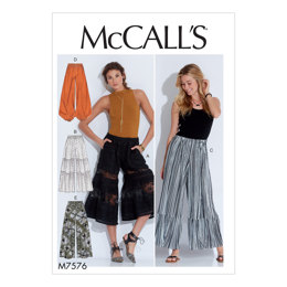 McCall's Misses' Elastic-Waist Loose Pants M7576 - Sewing Pattern