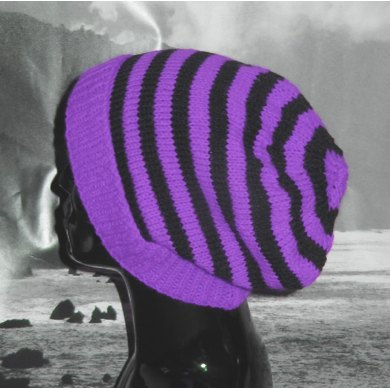 Simple Stripe Slouch Hat