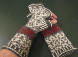 The Romance of Fair Isle, Fingerless Gloves
