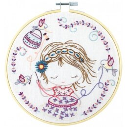 Un Chat Dans L'Aiguille When Salome Embroiders Embroidery Kit  - Sold Without Hoop